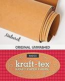 """kraft-tex Natural Original Unwashed: Kraft Paper Fabric, 19"""" x 1.5 Yard Roll (kraft-tex Basics)"""