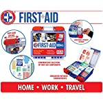 Be Smart Get Prepared 10HBC01082 100Piece First Aid Kit, Clean, Treat & Protect Most Injuries With The Kit that is great… 13 Manufactured by the #1 leading manufacturer of First Aid Kits in the USA. 100 pieces of comprehensive first aid treatment products. This Kit meets United States FDA Regulatory Standards as a Medical Device. Ideal for most businesses and perfect for family use at home or travel. Fully organized interior compartments provides quick access. The rugged, sturdy, high density plastic case is impact resistant