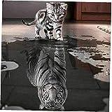 CULER Diamond Pintura 5D Taladro Parcial Animal del Gato de Tigre del Diamante Pintura Cuadros de Bordado Rhinestone pegados Diamant Pintura (Color al Azar)