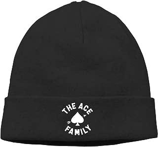 The Ace Family Unisex Skull Cap Winter Warm Hood Cap Beanie Hat Black