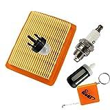 Huri Filtro aria + candela di accensione + Primer Pompa + filtro benzina adatta per Stihl FS120FS200FS250FS300FS350FS400FS450BT120BT120C FR350FR450# 41341410300