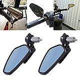 TUINCYN 7/8 Pulgadas Espejos de manillar de la motocicleta Espejo retrovisor de la moto de aluminio universal Se adapta a Yamah Suzuk Kawasak (1 par)
