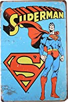 SUPERMAN スーパーマン ブリキ看板 20cm×30cm アメリカン ヒーロー キャラクター インテリア雑貨