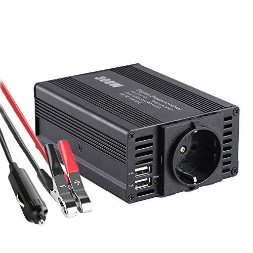 Digit.Tail 300W KFZ Wechselrichter, Spannungswandler 12V auf 220V - 240V, Umformer 12V auf 230V Power Inverter, 1 x Steckdosen und 2 x USB 5V 2.4A Autoladegerät inkl