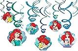 Disney Ariel The Little Mermaid Dream Big Swirl Value 12 Pack Party Supplies