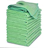 VibraWipe Microfiber Cleaning Cloth 12-Pack, Large Size 14.2'x14.2',...