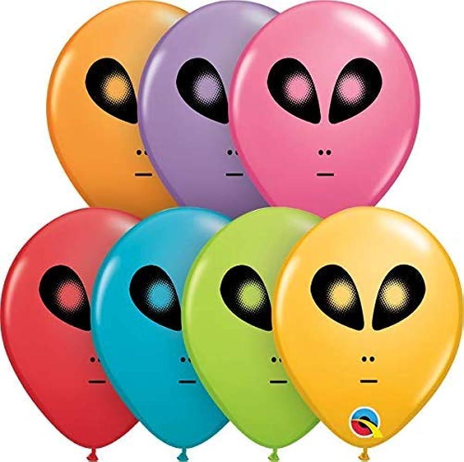Qualatex 98601 Space Alien - Festive Assortment Latex Balloons, 5