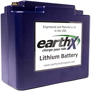 EarthX ETX36D Lithium Ion Battery w/FULL BMS for large V-Twin Motors - Replaces YTX20H-BS, YTX20HL-BS and YTX24HL-BS - 3.9 Pounds 320CCA 12.4Ah - 2 Year Warranty - Made in USA