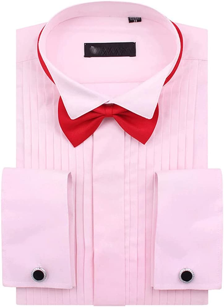 ZLDGYG ZMMDD Men's Genuine French Cuff Tuxedo Tip Shirt Wing Solid New Free Shipping Color