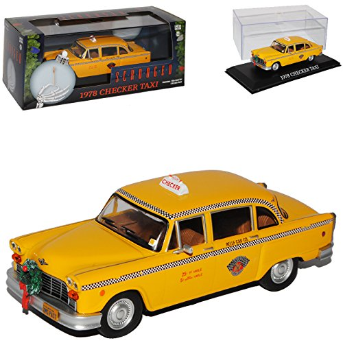 Greenlight Checker Yellow Cab Taxi NYC New York Limousine Gelb 1/43 Modell Auto