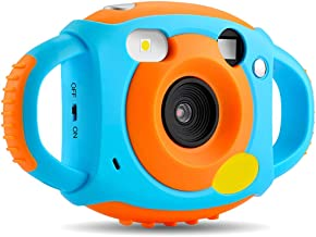 AMKOV Kids Camera Digital Camera for Kids Video Dual Camera 1.77 HD Color Screen 5 MP Rechargeable Camera for Kids,Gift for 3-8 Years Old Girls Boys Party Outdoor