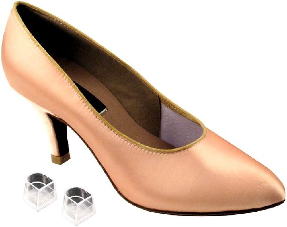 Very Fine Ladies Women Ballroom Dance Shoes EKCD5021M Flesh Satin-Pointed Toe 2.5