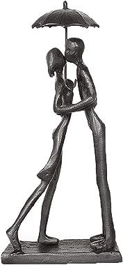 DreamsEden Affectionate Couple Art Iron Sculpture, Passionate Love Statue Romantic Metal Ornament Figurine Home & Office Deco