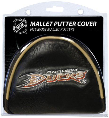 Team Golf NHL Anaheim Ducks Golf Club Mallet Putter Headcover, Fits Most Mallet Putters, Scotty Cameron, Daddy Long Legs, Taylormade, Odyssey, Titleist, Ping, Callaway