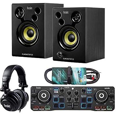 Hercules DJ Starter Kit 2-Deck USB DJ Controller Set Including Boxes Headphones + Keepdrum Audio Cable