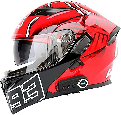 Casco Modular Abatible Para Motocicleta, Casco Abatible Frontal Con Bluetooth Para Motocicleta, Casco Integral Para Motocicleta Aprobado Por ECE, Casco Para Motocicleta Con Visera Solar Doble C,M