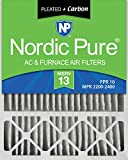 carbon activated air filter 20x20 - Nordic Pure 20x25x5HM13+C-1 Honeywell Replacement MERV 13 Plus Carbon AC Furnace Air Filter