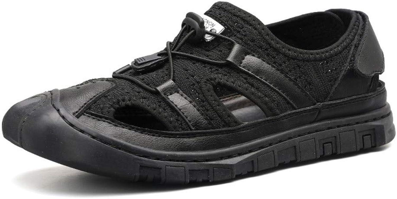 Flip-Flops Outdoor Sports Sandalshole shoes Summer Hole shoes Tie Casual Beach shoes Breathable Sandals Men