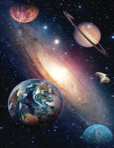 2017, 2018, 2019 Weekly Planner Calendar - 70 Week - Space Planets Earth: Earth and other Planets swirling in a large Galaxy - Science Fiction