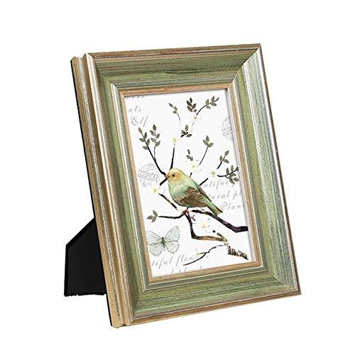 Foto lijstje Creatieve Amerikaanse stijl massief hout fotolijst gedekte tafel desktop wall dual-use custom houten fotoframe for de woonkamer Dresser Woondecoratie Gratis Wash Foto's
