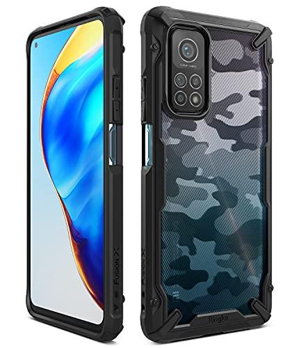 Ringke Cover Fusion-X Compatibile con Xiaomi Mi 10T e Compatibile con Mi 10T Pro, Custodia Antiurto TPU Paraurti - Camo Black