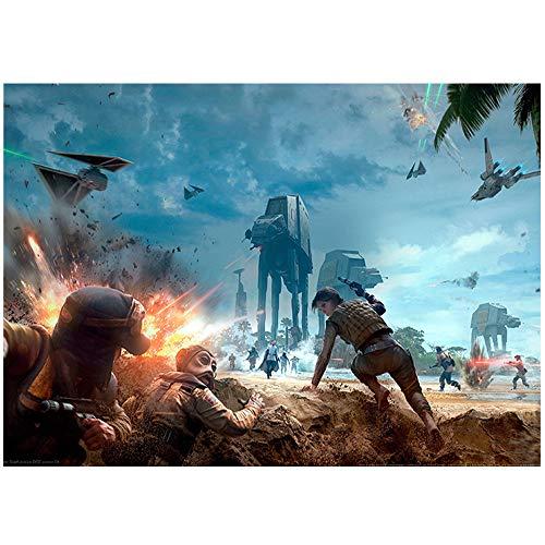 1000 Piezas de Rompecabezas para Adultos Rogue One Puzzle de 1000 Piezas para Adultos y niños Star Wars Juego Familiar cooperativo desafiante y Divertido (38x26cm)