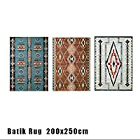 ラグ モリヨシ MORIYOSHI バティックラグ 200x250Batik Rug 449-Q01B 386-Q01N 170-Q03Z マット 絨毯 じゅうたん カーペット 386-Q01N