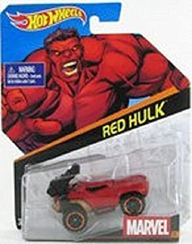 Hot Wheels, Marvel Character Car, rot Hulk  23, 1 64 Scale by Mattel