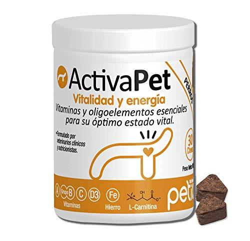 Petia Vet Health ACTIVAPET. (Multivitamínico Perros. Vitaminas Grupo B. Vitaminas E, A, C, D3, Hierro, Cobre, Zinc, Selenio, Manganeso, L Carnitina, L Metionina)