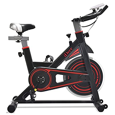 iDeer Life Exercise Bike, Indoor Cycling Bike, Smooth and Quiet Stationary Spin Bike, Fully Adjustable with Heart Rate Sensor from IDEER LIFE