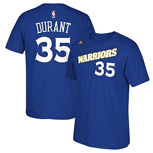 2d005afd695 adidas Kevin Durant Golden State Warriors 2015 NBA Finals Blue Name    Number T-Shirt