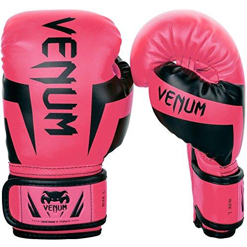 VENUM Elite - Guantes de Boxeo Unisex para niño, neón y Ro