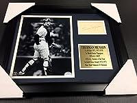 Autographed Thurman Munson Photograph - Cut Facsimile Reprint Framed 8x10 - Autographed MLB Photos