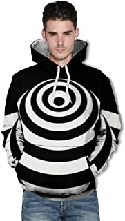 LONGDAY Cool Print T Unisex 3D Novelty Hoodies Graphic Pattern Print Galaxy Pullover Sweatshirt Pockets Christmas