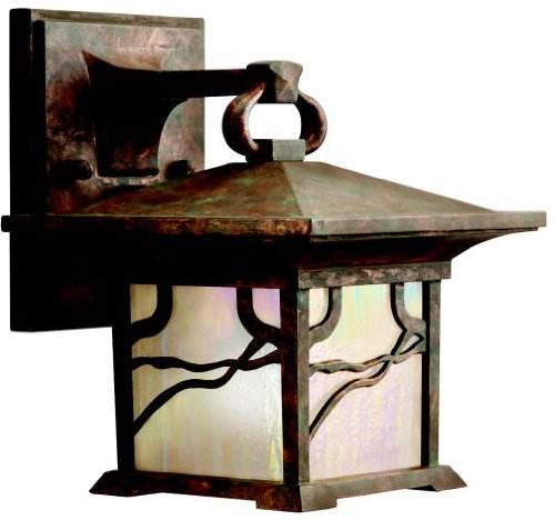 Kichler 9024DCO Morris Outdoor Wall 1-Light, Distressed Copper