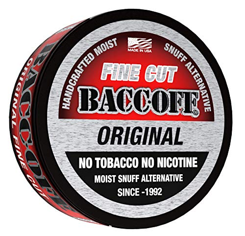 BaccOff, Original Fine Cut, Premium Tobacco Free, Nicotine Free Snuff Alternative (5 Cans)