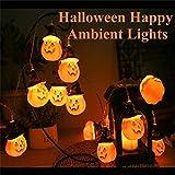 Halloween Pumpkin String Lights Home 12 ft 50 LED Halloween Lights   Solar Powered Pumpkin Lights with Lantern Decorative Lights for Indoor Outdoor Halloween Party