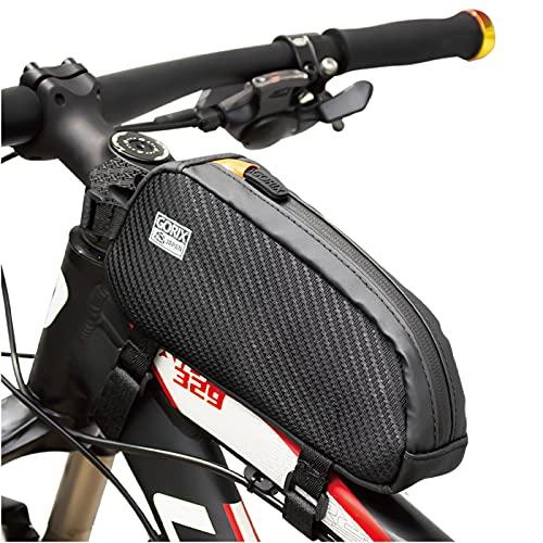 GORIX ゴリックス トップチューブバッグ 防水 自転車 (GX-BT39) フレームバッグ・ロードバイク・スマホ収納...