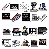 20 PCS Stickers Pack Law Aesthetic and Vinyl Order Colorful SVU Waterproof for Water Bottle Laptop Bumper Car Bike Luggage Guitar Skateboard