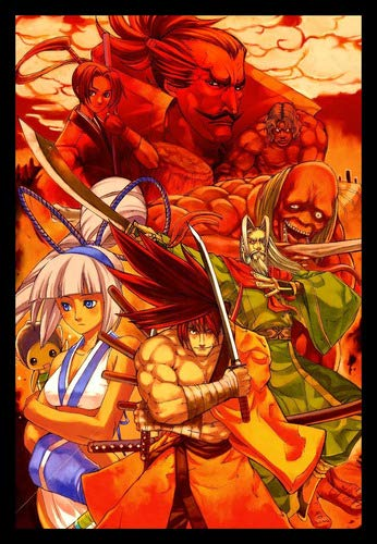 Quadro Samurai Shodown Game Arte Moldura 42x29cm