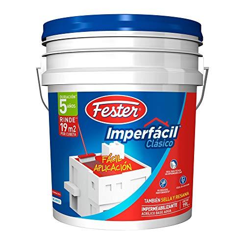 Impermeabilizante acrílico base agua Fester Imperfácil Clásico 5 Años Rojo 19L