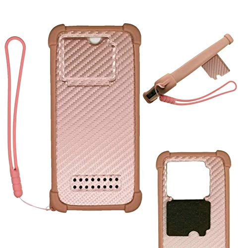 Oujietong Case For Moto One Fusion+Plus Case Silicone border + PC hard backplane Stand Cover PINK