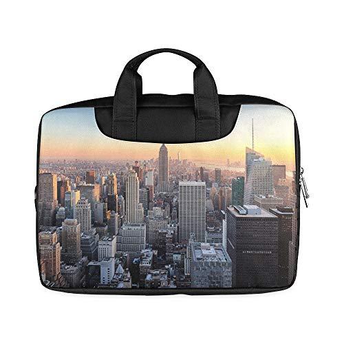 13-Zoll-New Yorker Skyline-Over-River-Laptop-Tasche mit Tragegriff Leichte Laptop-Tasche für das MacBook Air Pro