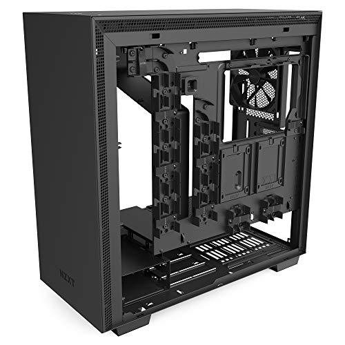 NZXT H710 - Case da gioco per PC mid-tower ATX - Porta Tipo C USB I/O frontale - Pannello laterale in vetro temperato ad apertura rapida - Compatibile con il raffreddamento a Liquido
