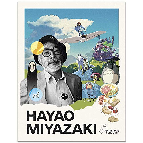 11x14 Hayao Miyazaki Collage Poster/Anime Poster/Home Wall Decor/Anime Wall Art/Movie Poster/Movie Wall Art/Studio Ghibli/Spirited Away/Princess Mononoke/My Neighbor Totoro