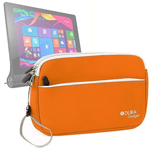 DURAGADGET Funda De Neopreno Naranja para La Tablet Lenovo Yoga 2 (8') / Yoga 2 con Windows/ThinkPad 8 - con Correa De Mano