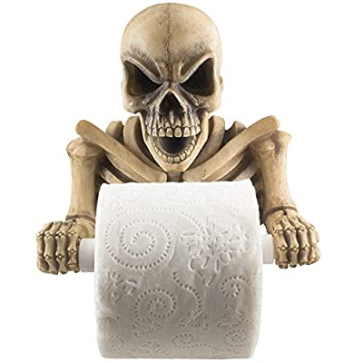 Upper Body Skeleton Halloween Toilet Paper Holder