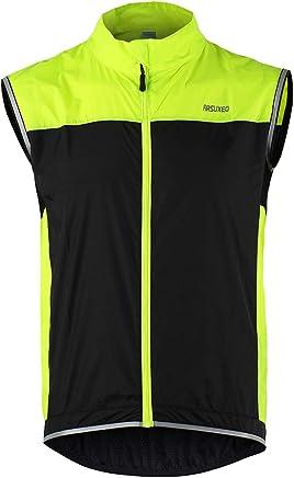 Glory.D Reflektierende Winddichte Radsportweste Warnweste Motorrad Sicherheitskleidung f/ür Nachtaktivit/äten im Freien Laufen Radfahren Spazierengehen und Arbeiten Radfahren