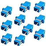 F-Factory 光アダプタ SCコネクタ中継アダプタ 10個セット シングル/マルチモード兼用 SC-SC FE-COA-SCJJ-10P