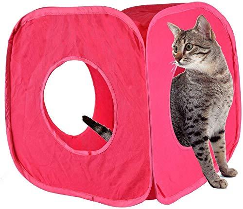 Pet Living Cat Kitty Spielwürfel für Kätzchen, Tunnel, Spielspaß, Katzenwürfel, 4 Farben